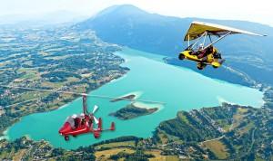 Découverte des lacs de la région Rhône Alpes en ULM